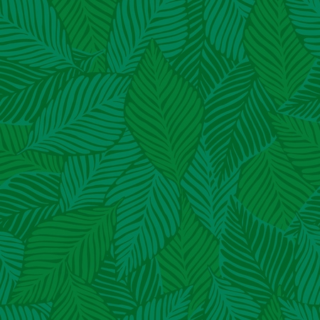 Exotic plant. Tropical pattern, palm leaves seamless vector floral background. Summer nature jungle print.