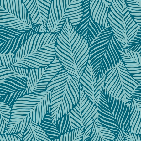 Summer nature jungle print. Exotic plant. Tropical pattern, palm leaves seamless vector floral background.