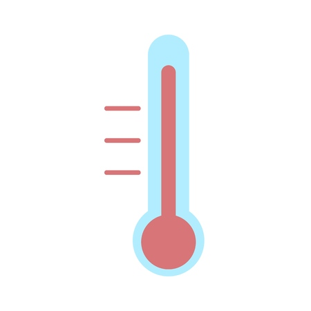 Thermometers measuring. Temperature flat vector icon isolated on white background