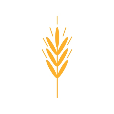 Wheat Ears Icons. Organic wheat, bread agriculture and natural eat. Contour lines.