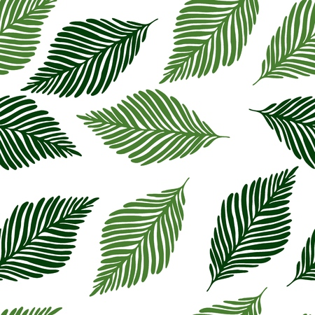 Minimal floral seamless pattern tropical leaves, Fashion, interior, wrapping consept. Vector illustration Çizim