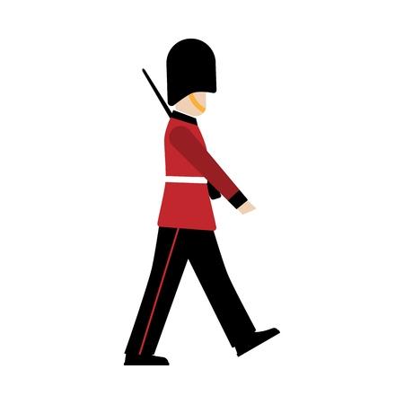 Königlicher britischer Gardist. Grenadier. Soldat der königlichen Garde.