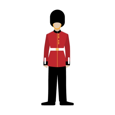 Royal british guardsman. Soldier of the royal guard. Grenadier. Vektorové ilustrace