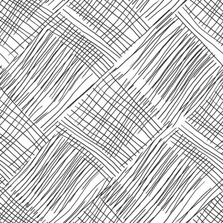 Fondo abstracto con líneas. Líneas caóticas en blanco y negro