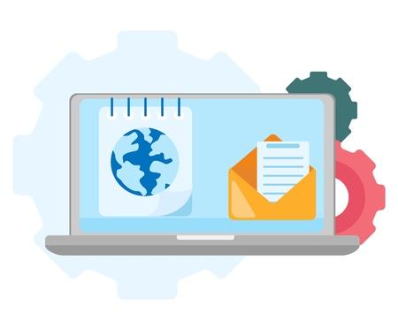 Web symbol global search. Internet icon. Search services. Illustration