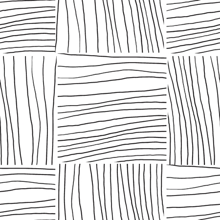 Abstract background with lines. Black and white seamless pattern