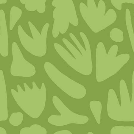 Modern floral seamless pattern. Hand drawn green blots backdrop.