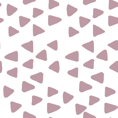 Monochrome Triangles seamless pattern on white backdrop. Illustration