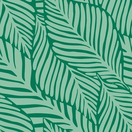 Summer nature jungle print. Exotic plant. Tropical pattern, palm leaves seamless vector floral background. Vektoros illusztráció