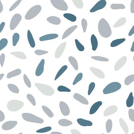 Random stones backdrop. Abstract geometric dotted wallpaper. Scandinavian pebble seamless pattern on white background.