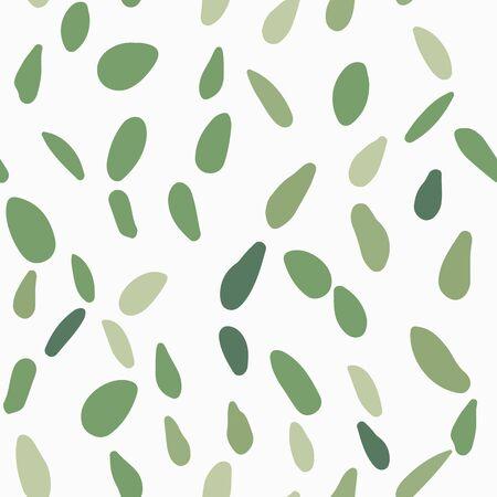 Scandinavian pebble seamless pattern on white background. Random stones backdrop. Abstract geometric dotted wallpaper. Illustration
