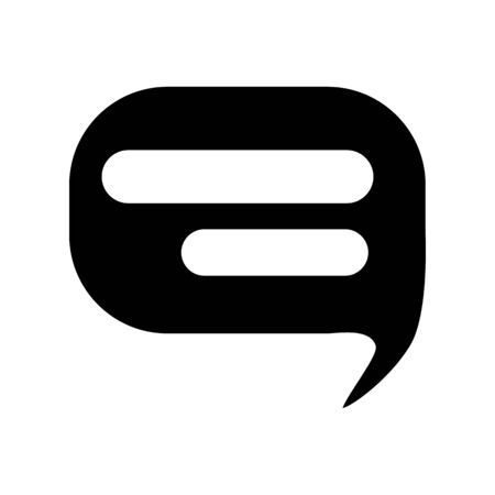 Glyph speech bubble icon. Chat symbol. Simple vector illustration isolated