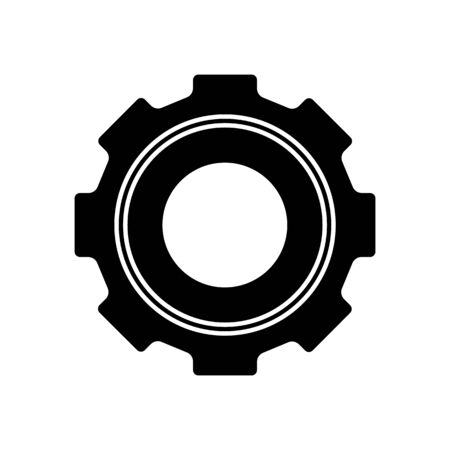 Glyph gear icon. Simple flat design pictogram. Illusztráció