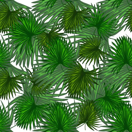 Monstera leaf wallpaper. Abstract exotic plant seamless pattern. Tropical palm leaves pattern, botanical background. For book covers, design, graphic art, wrapping paper. Vector illustration