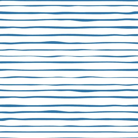 Patrón transparente de rayas azul marino. Papel pintado rayado dibujado a mano.