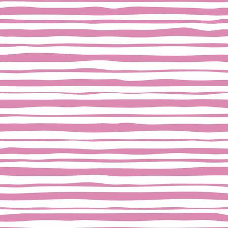 Pink stripes seamless pattern. Hand drawn striped wallpaper.