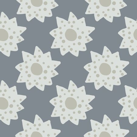 Scandinavian simple flowers seamless pattern. Floral print with daisies flowers. Spring design for fabric, textile print, wrapping paper