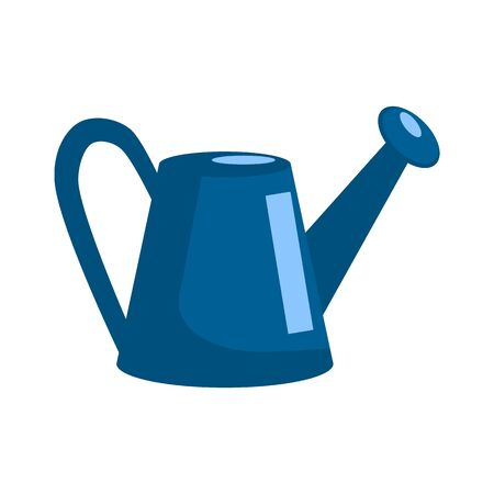Watering can in flat style design. Isolated on white background. Vector illustration. Ilustrace