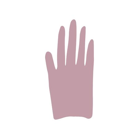 Hand sign in doodle style isolated on white background. Simple vector illustration