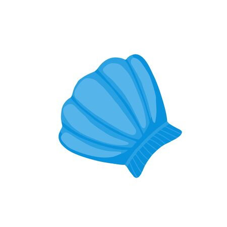 Seashell icon in flat style isolated on white background. Vector illustration