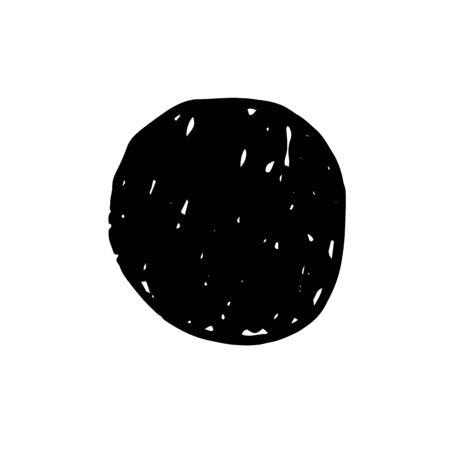 Ink circle. Black hand drawn ink circle for banner design. Grunge brush texture. Poster, banner, print template. Vector illustration
