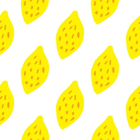 Geometric Citrus Fruits Wallpaper Green Lemon Seamless Pattern