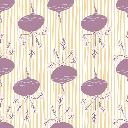 Hand drawn beet seamless pattern. Funny beetroot backdrop. Botanical wallpaper. Design for fabric, textile print, wrapping paper, kitchen textiles. Vector illustration Illusztráció