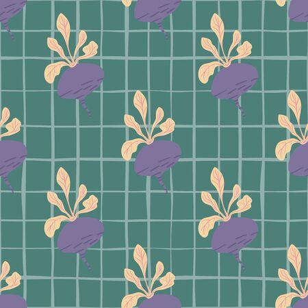 Vintage beetroot backdrop. Hand drawn beet seamless pattern background.