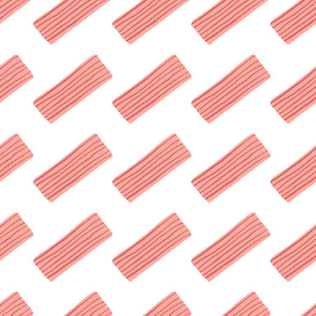 Isolated pattern design with pink-lined rectangles on white background. Vector Illustration. Designed for wrapping paper, textile, kids clothes, wallpaper.