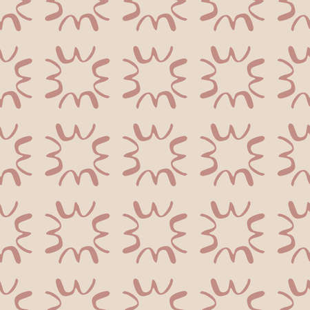 Abstract seamless pattern in pink tones with ethnic elements.