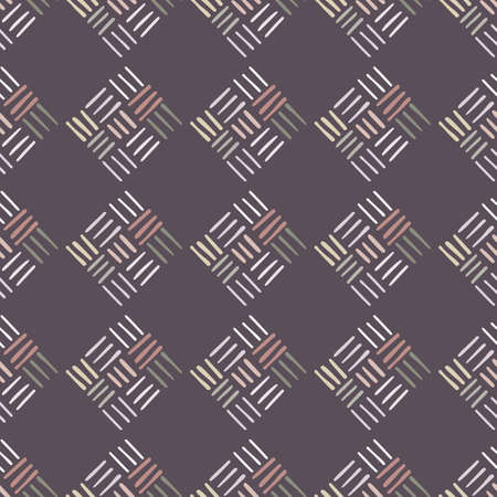 Abstract geometric dash pattern with lines in dark pastel colors.