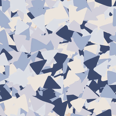 Geometric seamless pattern with triangle shapes in blue colors.