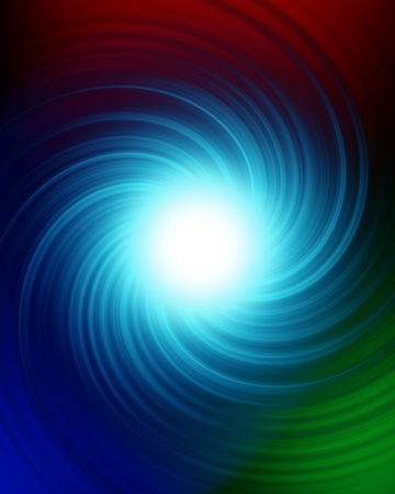 Een mysterieuze swirl in de nachtelijke hemel