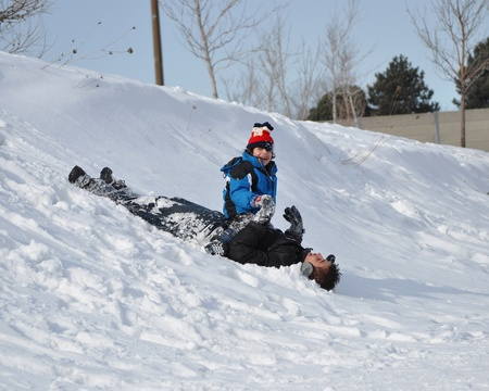 Sliding down over my brothers body