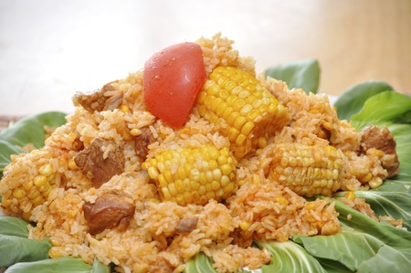 A delicious traditional Cuban plate. Imagens