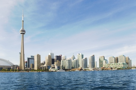 A wideangle skyline of Toronto City Editorial