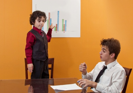certain: A little wise manager discusses certain concerning issues.