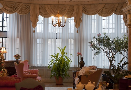 luxuries: Toronto, Canada. Jan 7 2012: Main Hall windows at Casa Loma in Toronto