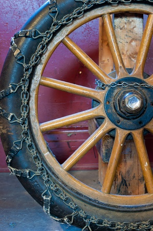 existed: One of the first automobiles wheels that existed.