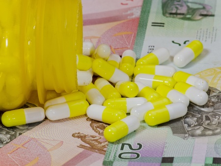 Concept of how expensive some medications might be especially orphan drugs photo