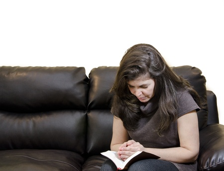 A woman having her daily Christian devotional