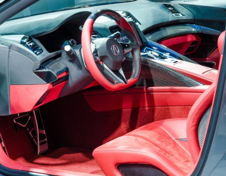 acura: TORONTO-FEBRUARY 15: Exhibition of the  Acura NSX interior  during  the Torontos International Auto Show 2013. The show is arriving to 40 years this 2013. Editorial