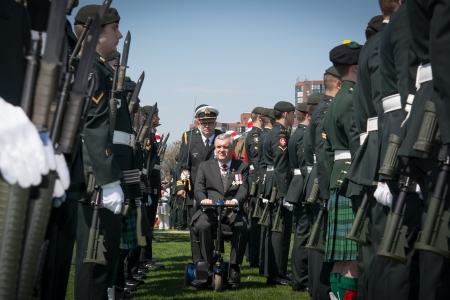 partake: TORONTO-APRIL 27  David Charles Onley, Lieutenant Governor of Ontario and other personalities partake in the commemoration of the 200 Anniversary of the Battle of York  as seen in Toronto April 27, 2013