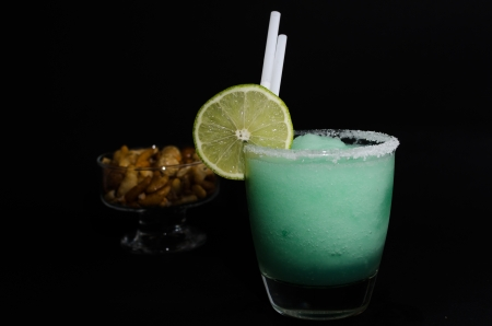 internationally: Refreshing frozen cocktails photographed in a simple way. Internationally renown frozen cocktails