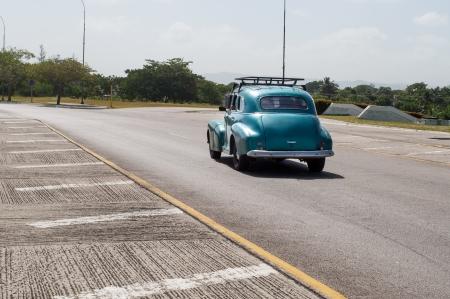 Old American car still running in the Cuban streets