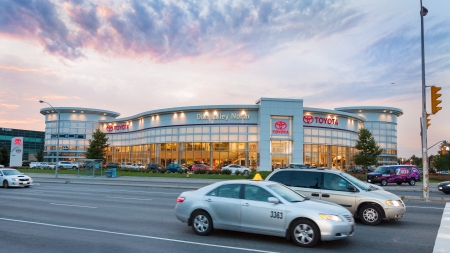 TORONTO-SEPTEMBER 25  Toyota continues as a leader of the hybrid industry  Their new models wil have higher density batteries was announced in Ypsilanti, Michigan  As seen in Toronto on Sept 25, 2013  Stock Photo - 22947707