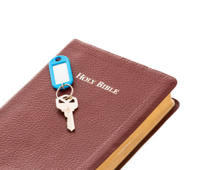 The Bible had the key to eternal life  No other book offers that  The word of God as the key to knowledge and wisdom Stock Photo