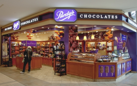 TORONTO,CANADA-MARCH 30, 2012  Purdy s Chocolate Store  Purdys Chocolatier is a Canadian chocolatier and retail operator  The company is based out of Vancouver, British Columbia