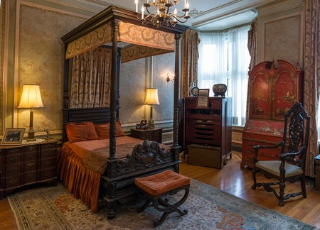 TORONTO, CANADA-MARCH 8, 2014: Interior design and decoration of: Casa Loma  one of Toronto's top ten tourist attractions. Around 300,000 visitors tour Casa Loma and the Estate Gardens each year.
