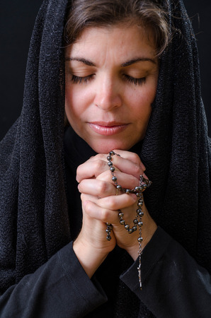 Catholic Woman Praying photo